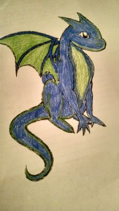 Just a cute dragon pic I colored the other day. Thought it might give me some kind of inspiration for my story.
