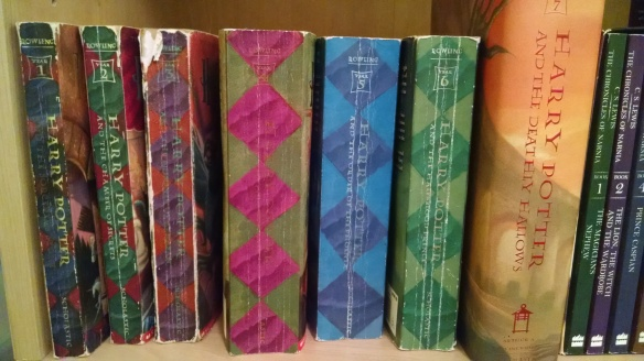 My much-used Harry Potter books. :P